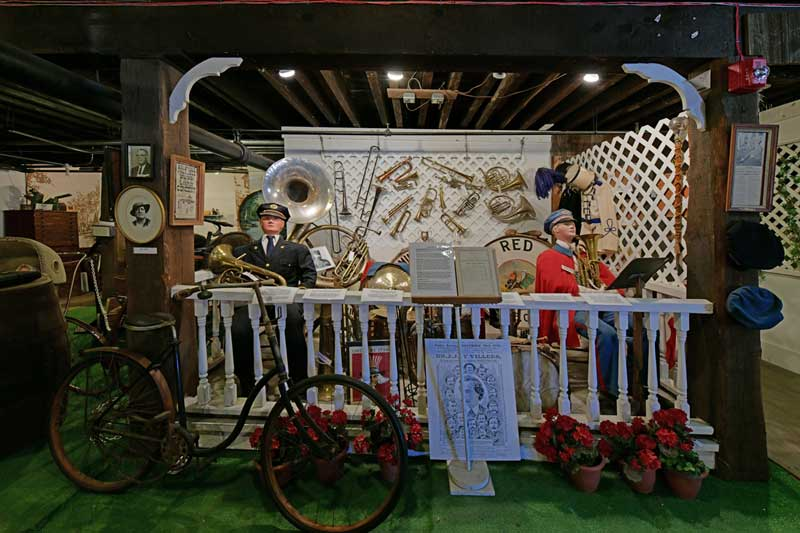 Band instruments from bands in Canton