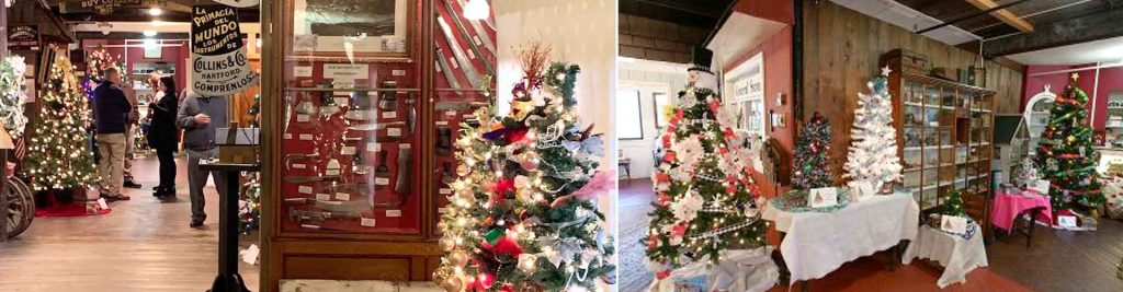 Decosrated Christmas trees for Gallery of Trees 2020 event
