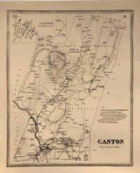 1869 Replica Map of Canton, CT