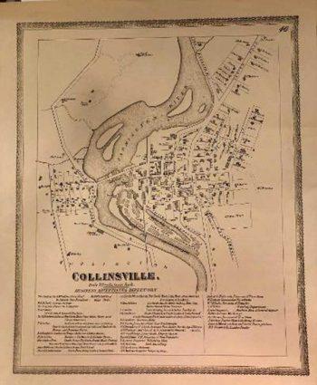 1869 Replica Map of Collinsville, CT