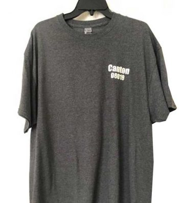 Printed Canton Zip Code on front of Tshirt